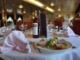 Diner on a hotelship Drupa Düsseldorf