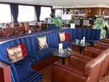 Salon of a hotelship