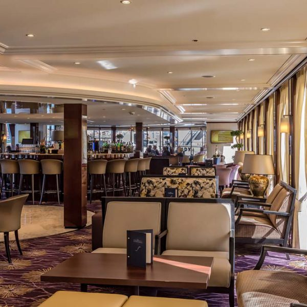 The lounge of a hotelship